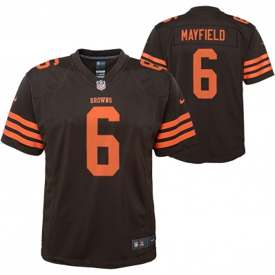 baker mayfield browns jersey youth small