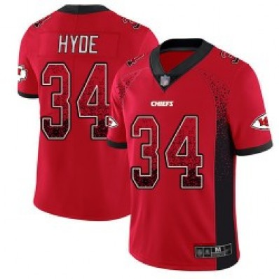 carlos hyde black and red jersey